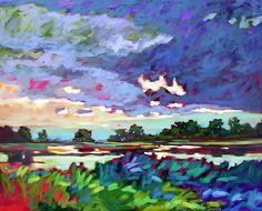 Dewees Lagoon, Dewees Island, South Carolina. Anglin Smith Fine Art