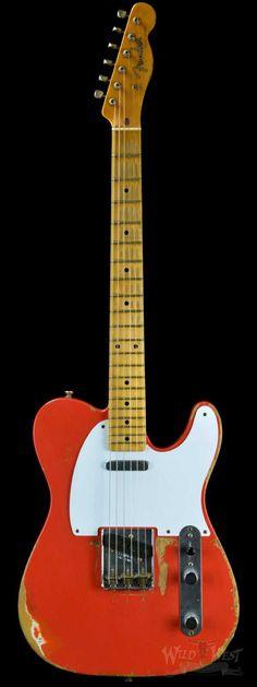 Fender 1958 Telecaster NAMM 2008 Heavy Relic Fiesta Red