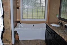 Plan #1222 - The Sorvino - Large soaking tub in the master suite. http://www.dongardner.com/plan_details.aspx?pid=3611. #Master #Bathroom #SoakingTub