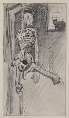 Skeleton, Vincent van Gogh  1886