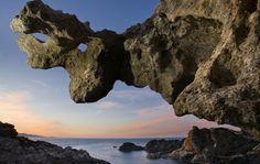 Les formes de les roques del cap de Creus són ben peculiars. Costa Brava, Alt Empordà (Catalunya - Catalonia)