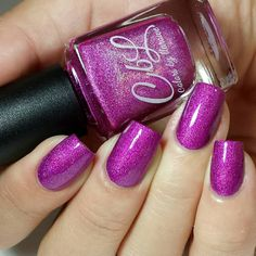 """""""TGIF!! Starting your weekend off with Rare Orchid from our upcoming fall collection. A medium orchid pink holo with subtle shimmer. This has the same…"""""""