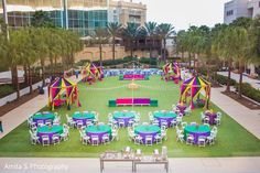 Sangeet table set up. Outdoor Indian Wedding, Indian Wedding Receptions, Indian Fusion Wedding, Indian Wedding Ceremony, Traditional Indian Wedding, Indian Weddings, Desi Wedding Decor, Marriage Decoration, Outdoor Wedding Decorations