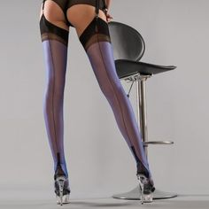 6d4888faddb Stockings HQ   Gio Full Contrast cuban heel FF stockings Ankle Highs