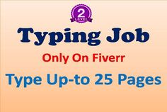 I love typing, i can type more then 65 words per minute. Please see my profile https://www.fiverr.com/best99