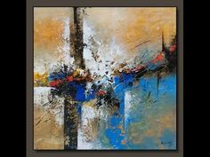 Abstract painting / Acrylic abstract demo / textured / New - YouTube