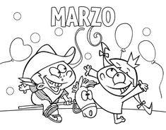 Free March Coloring Pages Printable. March is the third month. For an illustration of March, these images represent a fruit tree with birds, a flower, and the p Super Coloring Pages, Free Coloring Sheets, Coloring Pages To Print, Coloring Pages For Kids, Coloring Books, March Colors, Happy March, Dr Seuss Birthday