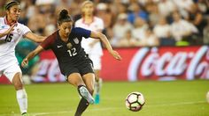 Christen Press scored the fourth and final goal against Costa Rica, July 22, 2016. (USA Today Sports)