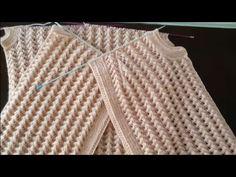 Dört Mevsim Yeleğin Ön Kol Kesimi Yapılışı - YouTube Baby Knitting Patterns, Knitting Stitches, Knitting Designs, Hand Knitting, Knitting Videos, Crochet, Diy And Crafts, Suits, Sweaters