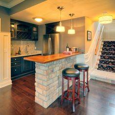 Small Basement Bar Ideas   basement kitchen with small bar   household ideas