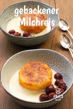 So könnt ihr Reste von Milchreis verarbeiten. Aber es schmeckt so lecker, dass … So you can process remains of milk rice. But it tastes so delicious that it is also worth cooking extra rice pudding for this recipe 🙂 Healthy Low Carb Dinners, Low Carb Dinner Recipes, Low Carb Desserts, Low Carb Breakfast Casserole, Low Carb Breakfast Easy, Breakfast Recipes, Bon Dessert, Dessert Recipes, Easy Snacks