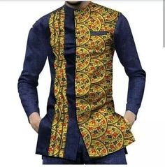 New African Men Short Sleeve Dashiki Slim Fit Shirts African Wear Styles For Men, African Shirts For Men, African Dresses Men, African Attire For Men, African Tops, African Clothing For Men, African Outfits, African Clothes Design, Ankara Styles For Men