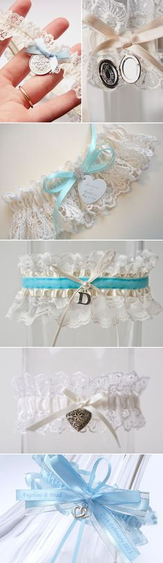 20 Utterly Romantic Bridal Garters - Personalized Garters