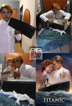 Check out Lowcostcosplays cosplay - Lonelyman and his Titanic. is no longer lonely and this is the best Titanic ever. Really Funny Memes, Crazy Funny Memes, Wtf Funny, Funny Cute, Funny Jokes, Hilarious, Funny Fails, Humor Videos, Video Humour