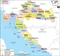 Political #Map of #Croatia