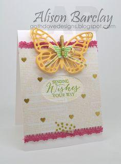 Gothdove Designs - Alison Barclay Stampin' Up! ® Australia : Stampin' Up! Australia - Color Coach Card #94 - Butterfly Basics