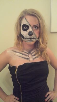The zipper face! Happy Halloween 2014 everyone! :) #Halloween #zipperface #makeup