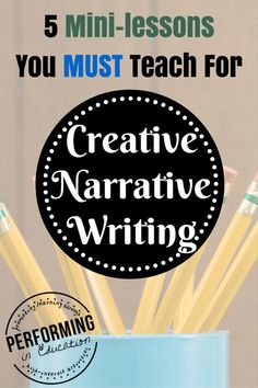 Struggling with how to teach creative narrative writing to your class? Here are 5 mini-lessons you MUST teach during your creative narrative unit. Teaching Narrative Writing, 6th Grade Writing, Writing Workshop, Essay Writing, Persuasive Writing, Writing Notebook, Apa Essay, Literary Essay, Sentence Writing