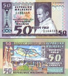 Madagascar   50 Francs (1974-75)