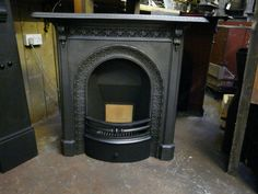 THIS ONE- 150MC – Victorian Cast Iron Fireplace | Old Fireplaces