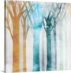 Contemporary home decor artwork of colorful watercolor trees against a distressed background. Dancing Trees III by Edward Selkirk is part of the Watercolor Art Print collection on Canvas On Demand. Shop more fine art canvases at Canvas On Demand. Canvas Artwork, Framed Artwork, Canvas Wall Art, Canvas Prints, Canvas Canvas, Contemporary Wall Decor, Contemporary Paintings, Painting Prints, Art Prints