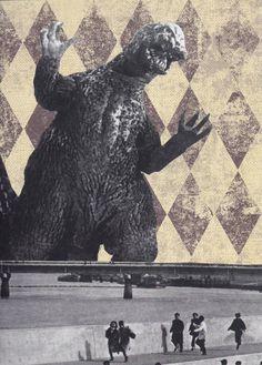 Go Go Godzilla  Godzilla vs The Thing  One of a by ViewObscura, $6.00