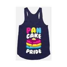 HUMAN Pan Cake Pride ❤ liked on Polyvore featuring tops, shirts, shirt top, blue shirt and blue top