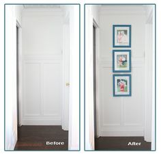 How to add a pocket door: Before and after hallway