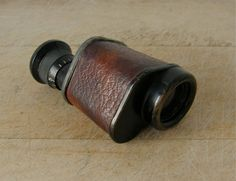 KING 5x MONOCULAR VINTAGE Compact Size Leather Covered Good Focus Pocket Monocular Vintage American or English 1940's by OnceUpnTym on Etsy