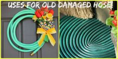 Have an old or damaged hose laying around? Well here are some Monday Make Yourself Tips! #DIY, #garden, #crafts, #repurpose