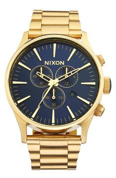 Nixon 'The Sentry' Chronograph Bracelet Watch, 42mm available at #Nordstrom