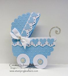 Our Creative Crafters' Stamping to Share Demo Meeting Swap had the theme of Love Marriage or a Baby Carriage. The cards were wonderful. Baby Boy Cards, New Baby Cards, Baby Shower Cards, Punch Art Cards, Baby Shower Invitaciones, Karten Diy, Baby Carriage, Card Tags, Handmade Baby