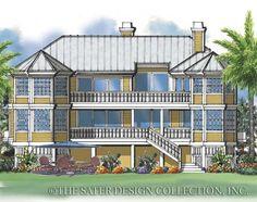 Rear elevation l Cutlass Key Home Plan l Sater Design Collection l Waterfront House Plans