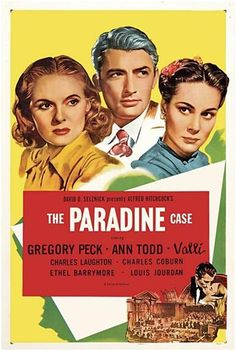 PARADINE CASE, THE - Alfred Hitchcock )