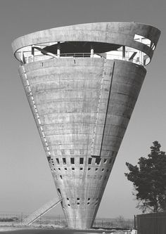 "Grand Central Water Tower, Midrand, South Africa, 1996 by GAPP Architects & Urban Designers. Coutesy GAPP Architects. From ""This Brutal World: a loving homage to Brutalism"" by Phaidon and Peter Chadwick."