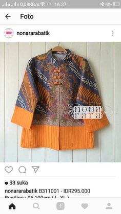 Batik Kebaya, Batik Dress, African Wear, African Fashion, Blouse Batik Modern, Batik Blazer, Mode Batik, Dress Brukat, Fancy Wedding Dresses