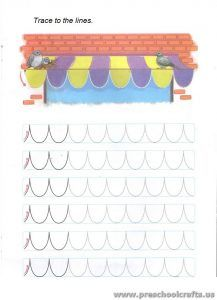 Free Printable Colored Trace Lines Worksheets