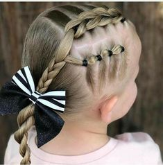 Might hold longer than a braid Easy Little Girl Hairstyles, Girls Hairdos, Girls Natural Hairstyles, Baby Girl Hairstyles, Princess Hairstyles, Braided Hairstyles, Cute Toddler Hairstyles, Hair Due, Hair Inspiration