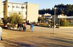 """Escola Secundária de Rio Maior, na década de 1990. Foto: Jornal """"Região de Rio Maior""""   Portugal"""