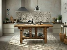 Industrial kitchen italian maiolic