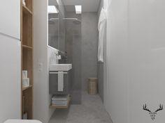 Łazienka, minimalizm, szary, beton, biel, drewno, Bathtub, Cabinet, Bathroom, Storage, Furniture, Design, Home Decor, Standing Bath, Clothes Stand
