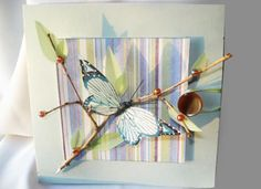 a cute butterfly card you can make for mother's day