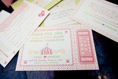 cute circus invitations