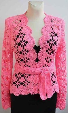 blusas con moldes y medidas paso a paso prentice - Yahoo Image Search Results Crochet Coat, Crochet Jacket, Crochet Cardigan, Crochet Shawl, Crochet Clothes, Crochet Stitches, Crochet Shrugs, Crochet Sweaters, Crochet Bolero Pattern