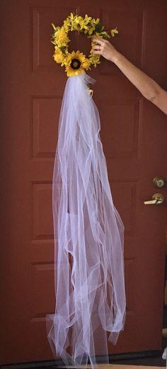 Sunflower bridal shower wreath