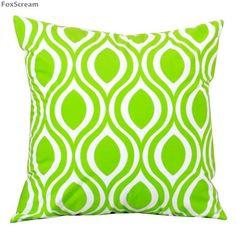 Decorative Throw Pillows Cover in Bright Green Velvet | $24.45 | Discounted Rare Home Decor