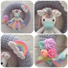 ***NOTE*** This is the PDF Pattern, not the finished product. Pattern contains 11 pages. She is a bubbly UnicornSweet baby unicorn - Emma would LOVE this! Crochet Birds, Crochet Fall, Crochet Unicorn, Crochet Bunny, Crochet Home, Cute Crochet, Crochet Animals, Crochet For Kids, Beautiful Crochet