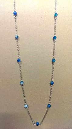 Banded Blue Agate Necklace