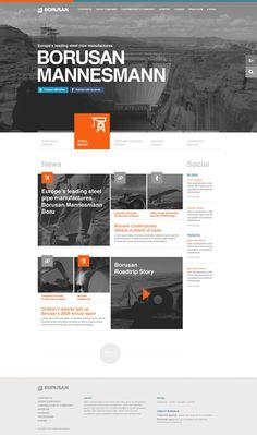 BORUSAN by Taygun Kurtulus, via #Behance #Webdesign. If you like UX, design, or design thinking, check out theuxblog.com