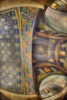 Mausoleum of Galla Placidia , Ravenna , Italy , - first half of V century - #mosaics
